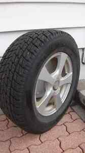 4 Winter tires mounted on rims in excellent condition