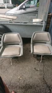 2 boat seats with pedestals
