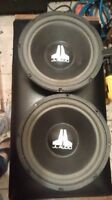 two JL audio 10 inch sub woofers