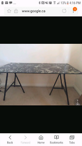 Rare Ikea glass table desk