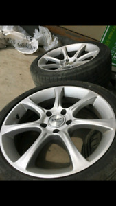 """Beautiful 18"""" rims off BMW M3. 6 tires included!"""