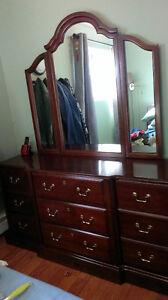 Triple Dresser, Mirror and Highboy