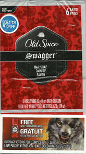 NEW Old Spice Swagger Bar Soap 6 Bars with Free GIFT Wolfthorn B