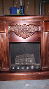 Working fire place with heater