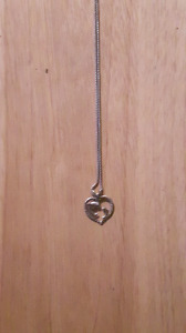 Sliver chain and heart shape dolphin pendant for sale