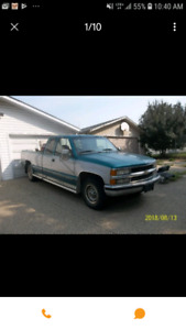 95 chevy 2500 ext cab long box. trade