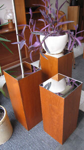 Teak stands and Wall Shelves