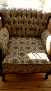 Sofa and Chair, French Provincial, Made in Canada, 1960s