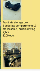 Front ATV storage box for sale