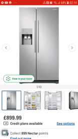 Samsung American fridge freezer with water and ice