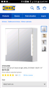 Ikea mirror cabinet with lights