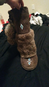 Brown mukluks