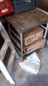 Stainless steel sinks, butcher table, much more