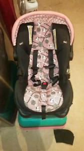 Beautiful infant girls carseat