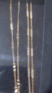 14 KT. GOLD PLATED NECKLACES