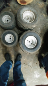 4 lawn mower tires on rims