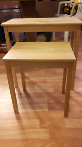 Small wooden side tables