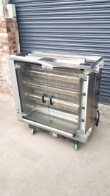 Commercial Automatic grill chicken rotisserie gas
