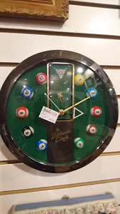 Billiards pool clock great man's cave piece working