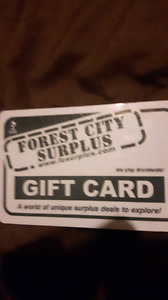 1/2 gift card for forest city surplus