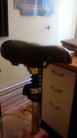 Bike Seat Post, Seat and Reflector