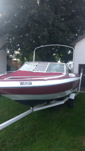 1987 seabreaze 19 foot boat and trailor