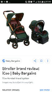 New icoo stroller and free car seat!