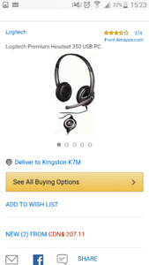 USB gaming headset great sound $15