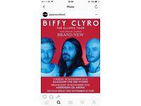 2 x Biffy Clyro Standing Tickets Glasgow Hydro