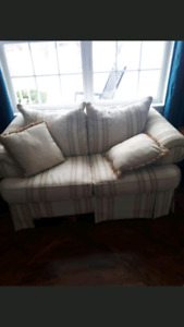 Matching love seat and chair