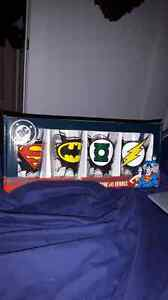 Super friends pint glasses