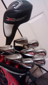 Callaway bag driver and Diablo Edge irons 4-9 PW and AW LH