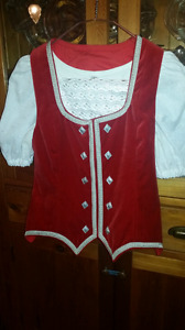 Highland dance vest and blouse