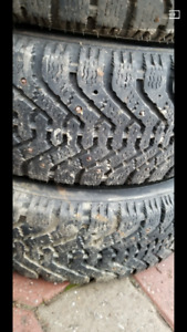 set of 185/65R14 GoodYear winter tires with Studs
