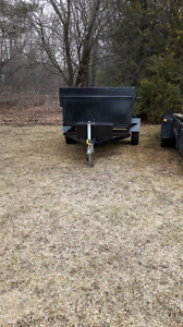 4x10 enclosed 5x8 dump trailer