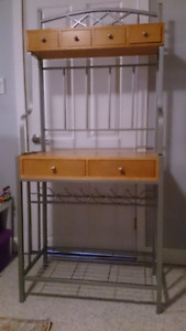 Kitchen / dining room bakers rack