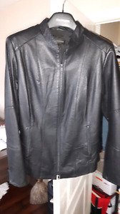 Genuine leather jacket size L