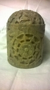 Hand Carved Jade Jar