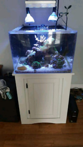 45 gallons acrylic aquarium and stand