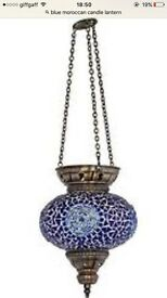 Beautiful and elegant hand made Turkish Mosaic hanging lamp