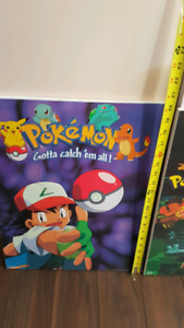 "Two pokemon wood 20"" posters"