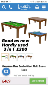 Dining table.pool table tennis.