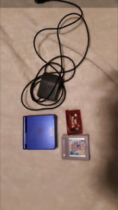 Gameboy advance sp with charger and 2 games