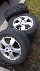 Mags 5x114.3 with summer tires 215-65-16