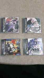 Assorted playstation 1 games.