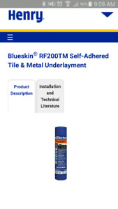 RF200TM Blue skin high temp roofing underlay
