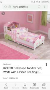 Kid kraft doll house toddler bed.