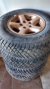 225 75 15 jeep rims with snow tires