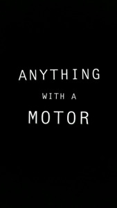 Anything with a motor! Clean up your yard!!