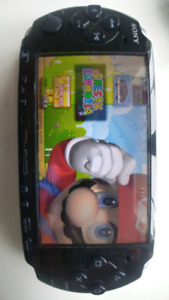 PSP 3001 - modded with memory card and charger
